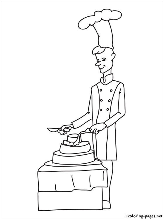 Pastry Chef Coloring Page Coloring Pages