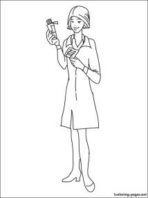 Pharmacist coloring page Coloring pages