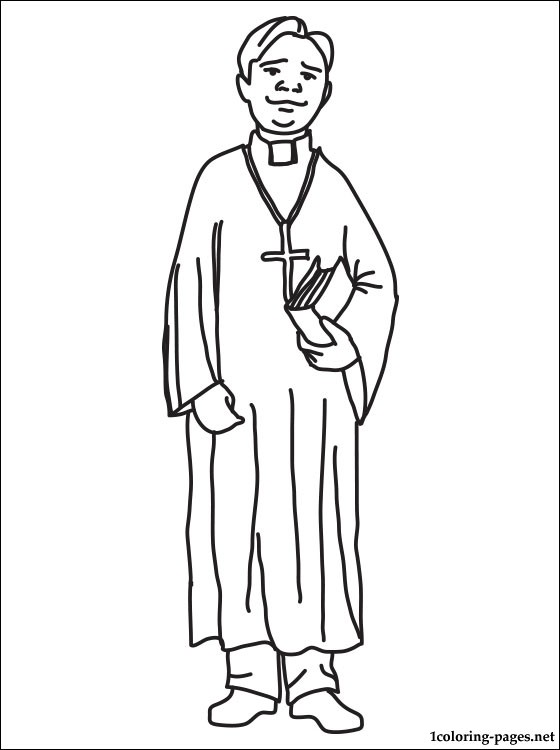 Free catholic priest coloring pages