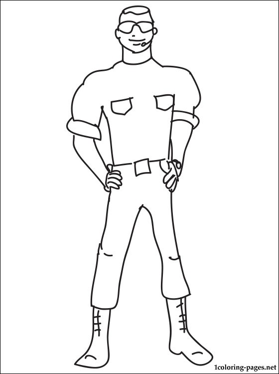 Free coloring pages of guard