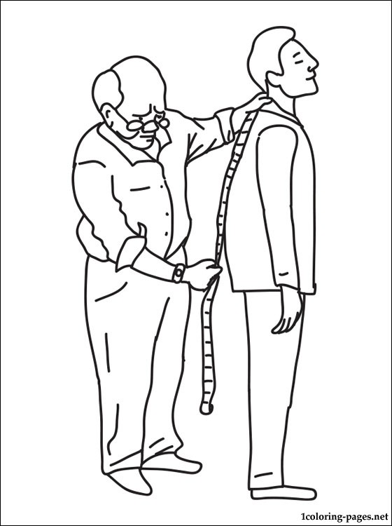 Tailor Coloring Page Coloring Pages