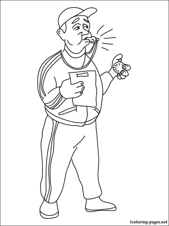Trainer Coloring Page Coloring Pages