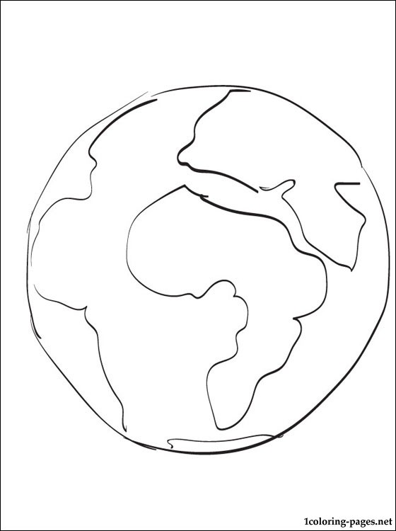 Earth coloring page Coloring pages