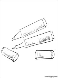 Markers coloring page | Coloring pages