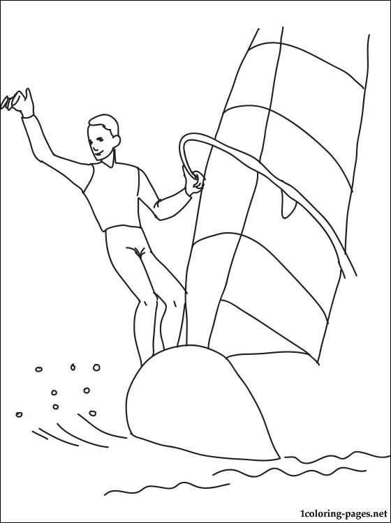 Windsurfing coloring page  Coloring pages
