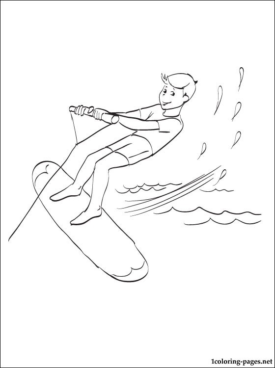 Surfing Coloring Page Coloring Pages