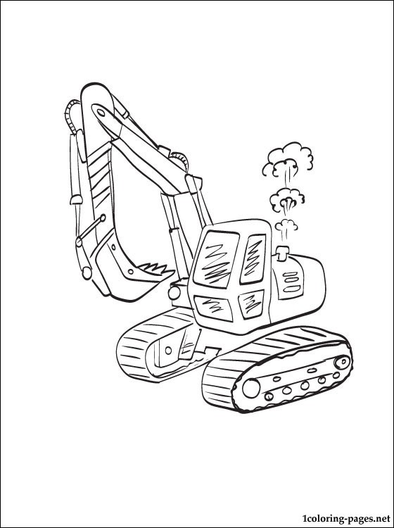 Coloring Page Excavator Coloring Pages