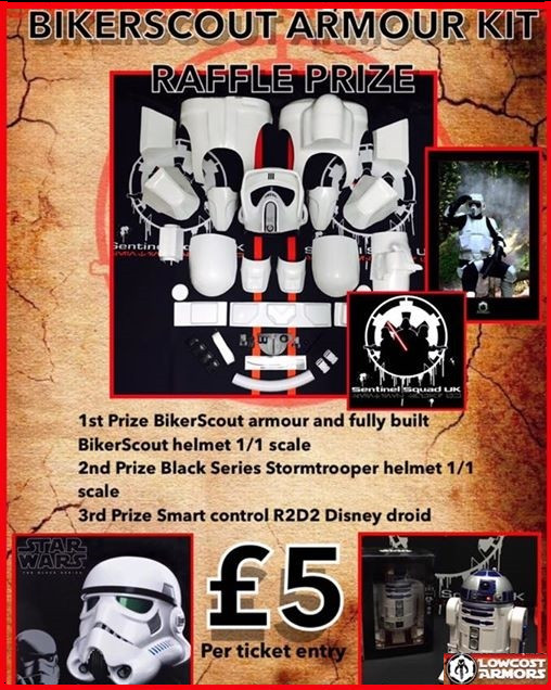Charity Prize Draw: Win a Star Wars Biker Scout Armour Kit from Sentinel Squad