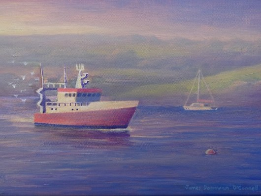 1create - The Red Fishing Boat by James Donovan O'Connell