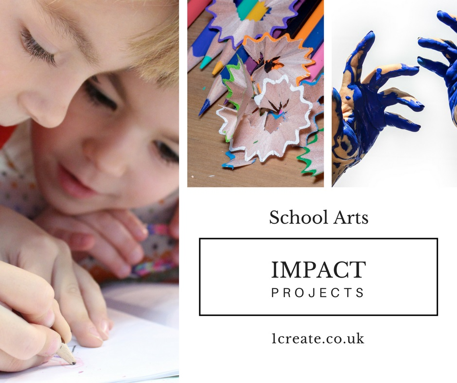 1create - school art impact project poster
