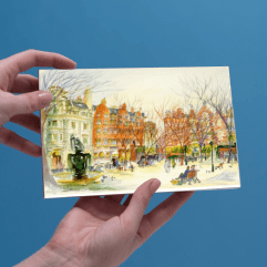1create - Greeting card 17 Sloane Square by patricia Thompson