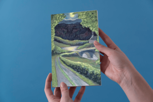 1create - greeting card Countryside in the Evening by james donovan o'connel