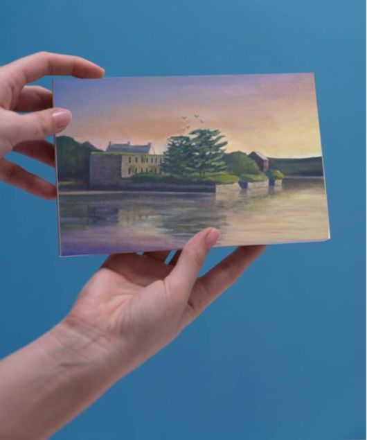 1create - greeting card Old Irish Ruin by james donovan o'connell