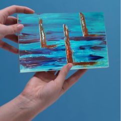 1create - greeting card castaways by Sue Caulfield