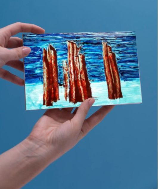 1create - greeting card pillars of the community by sue caulfield