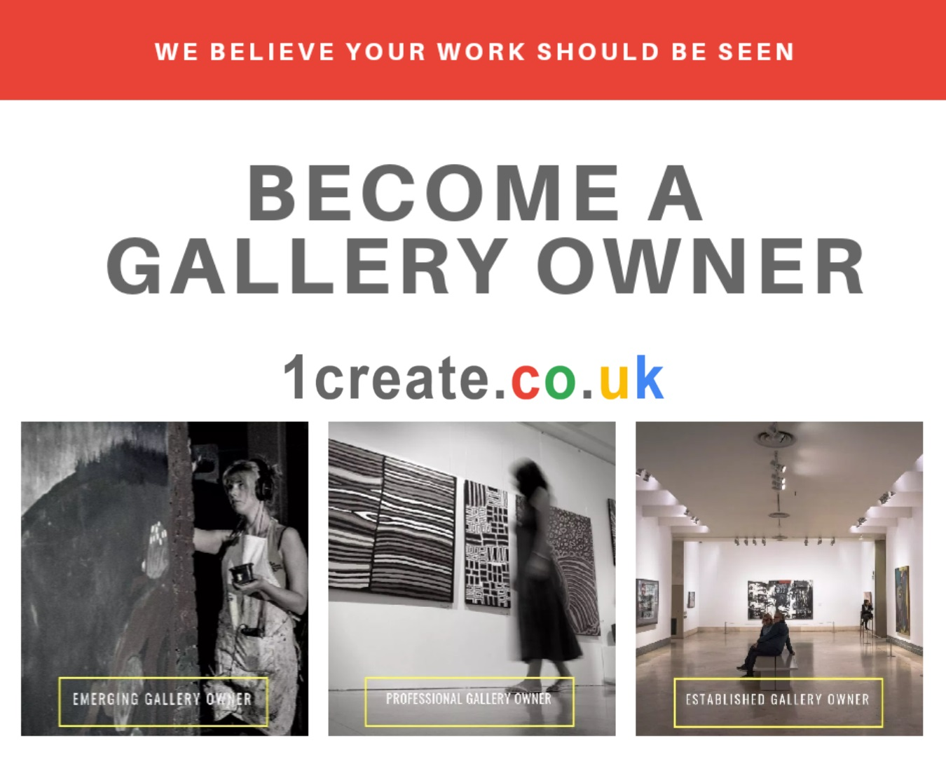 1create - become a gallery owner