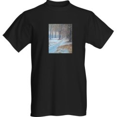 1create - t-shirts- Halfway-through-the-Snow-black by Mark Noble
