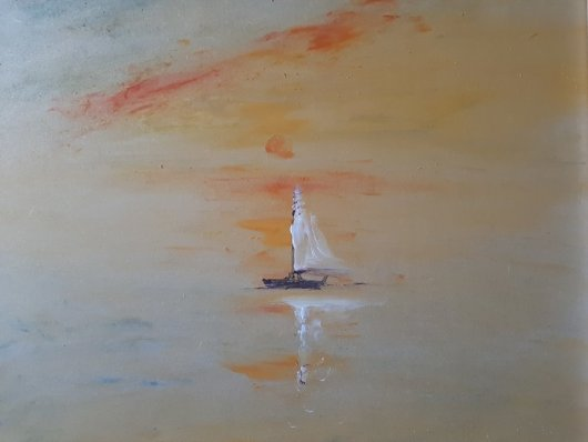Sailing Boat Onward by Mark Noble