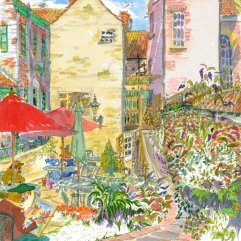 1create - Tea rooms Garden by Patricia Thompson