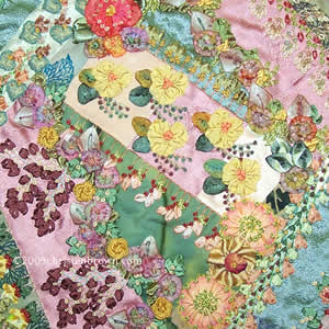 Gail's Garden- wall hanging by Christen Brown