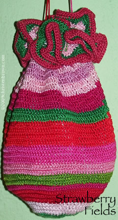 Strawberry Fields- crochet purse