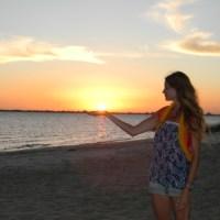 El sol de verano ...