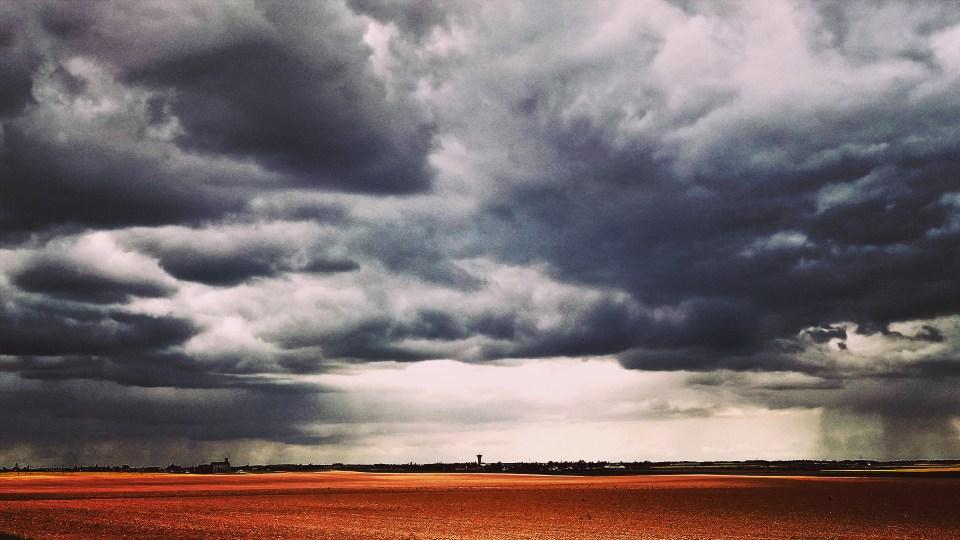 Ciel orageux dans la Beauce