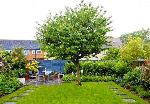 Красивый двор частного домовладения