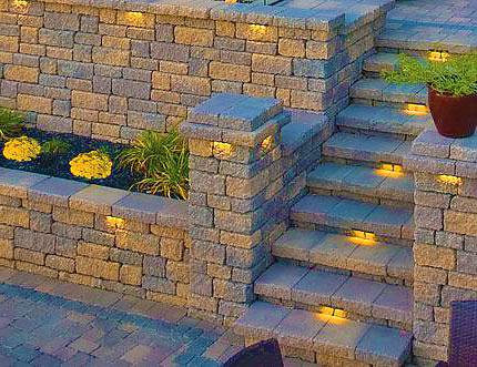 Подпорная стена из кирпичного камня