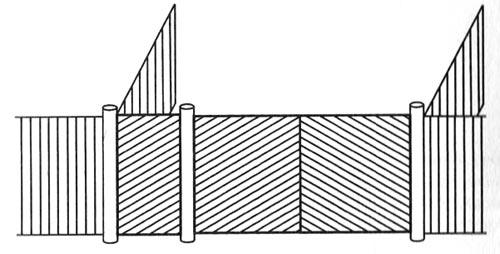 ворота на узком участке