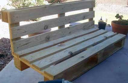 Основа скамейки из поддона