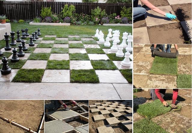 Шахматная площадка на улице