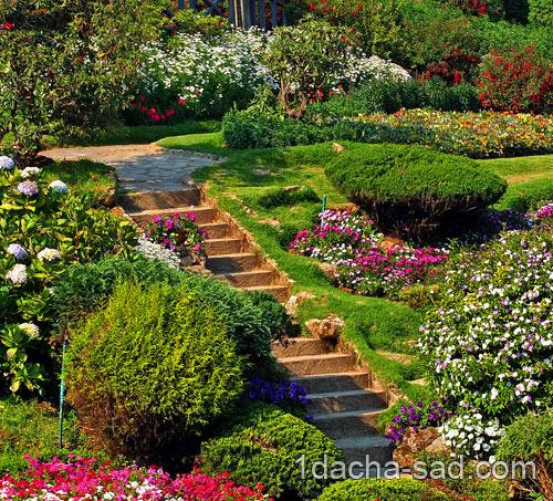 садовые лестницы в ландшафтном дизайне
