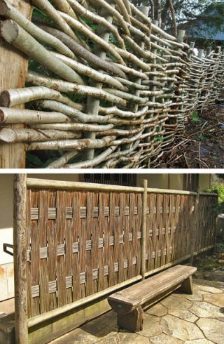 декоративный забор - плетень