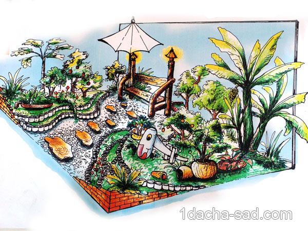 дизайн маленького двора (2)