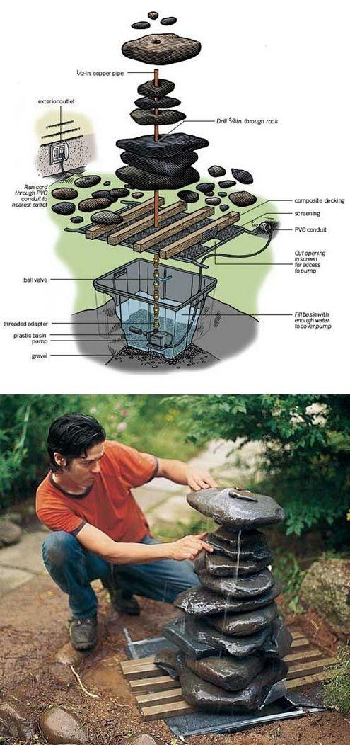 Как сделать фонтан на даче