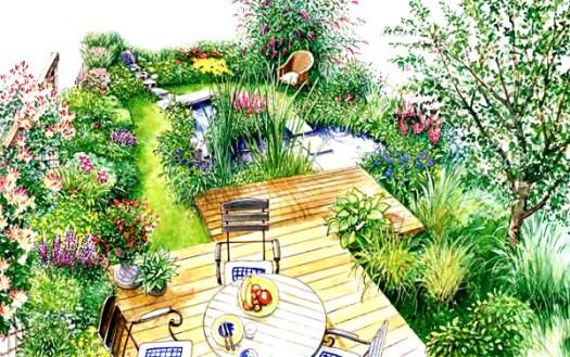 дизайн небольшого сада