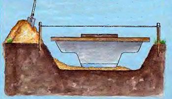 как обустроить декоративный водоем на участке 2