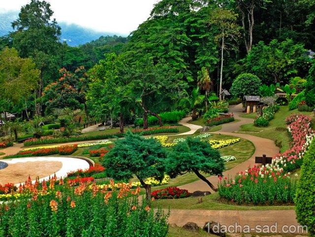 красивый сад Mae Fah Luang (1)