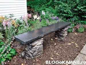 Скамейка из камня - на века