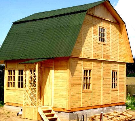 простенький дачный домик 7