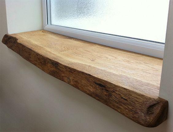 Идея деревянного природного подоконника