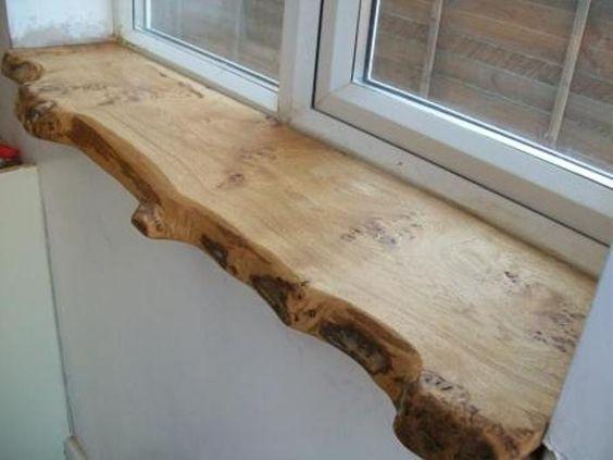 Натуральный подоконник из дерева