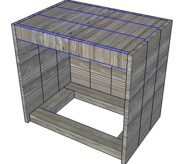 Прикроватная тумбочка чертеж 5