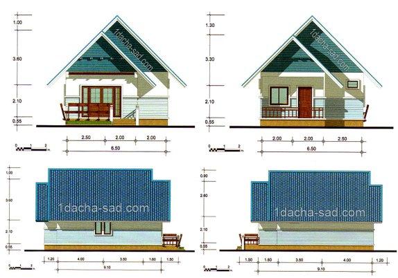 3 - Проект одноэтажного дома 6 на 9 м