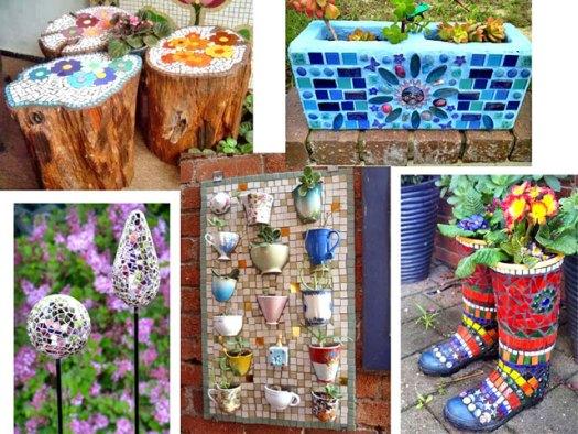 Примеры декора мозаикой