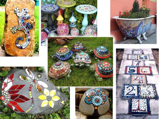 Мозаика в саду - как сделать
