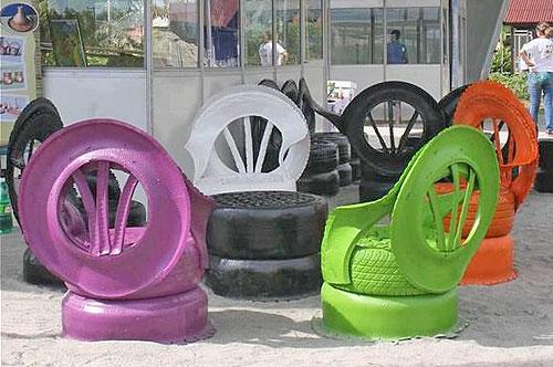 Кресла из шин