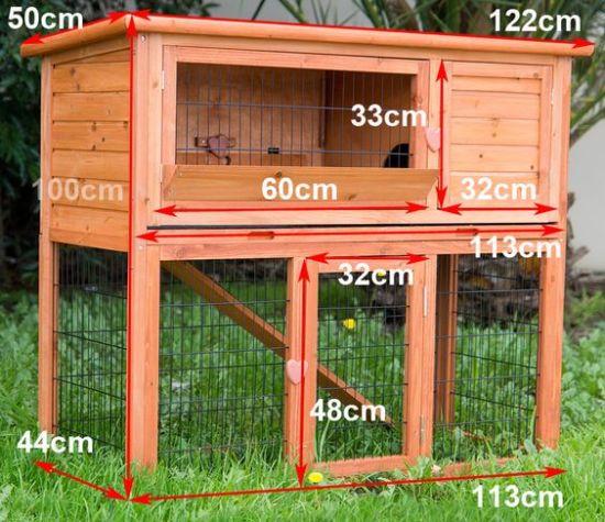 Размеры клетки для кроликов
