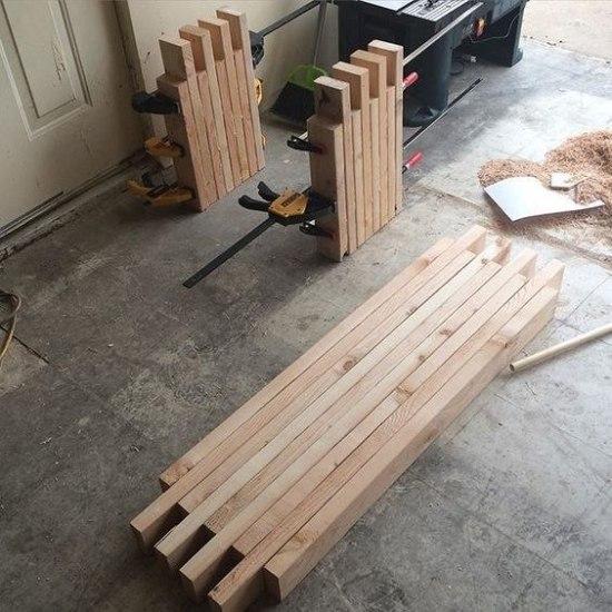 Деревянная скамейка для дачи своими руками